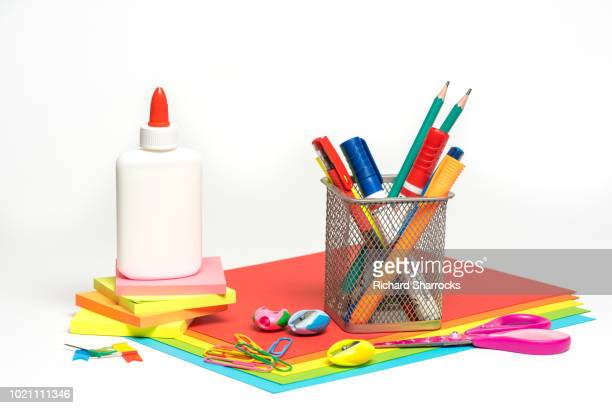 office supplies - school supplies stock pictures, royalty-free photos & images