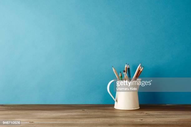 office supply. - minimalist living in japan ストックフォトと画像