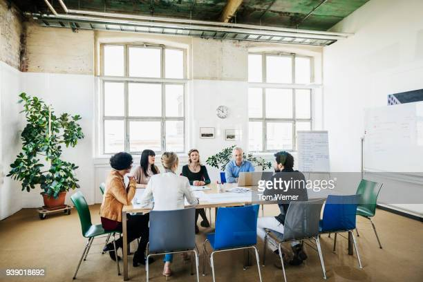 Office Team Having Meeting In Conference Room