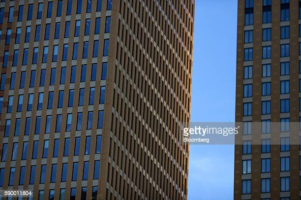 Office towers sit in the Zuidas business district of Amsterdam Netherlands on Monday Aug 15 2016 The Dutch city a cradle of modern capitalism was the...