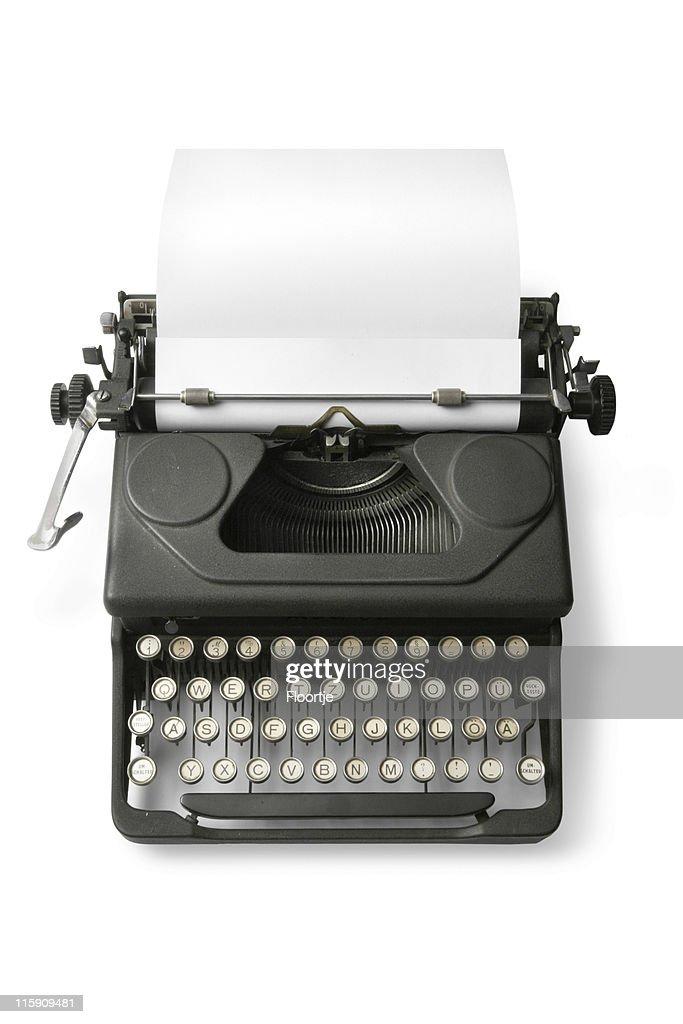 Office: Typewriter Isolated on White Background : Stock Photo