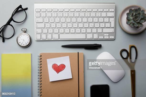 Office utensils on desk