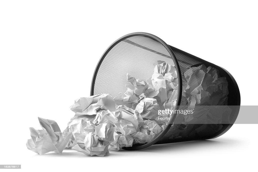 Office: Wastepaper Basket Tumbled : Stock Photo
