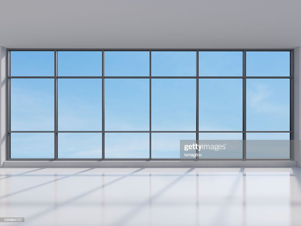 office with big window : Stock Photo