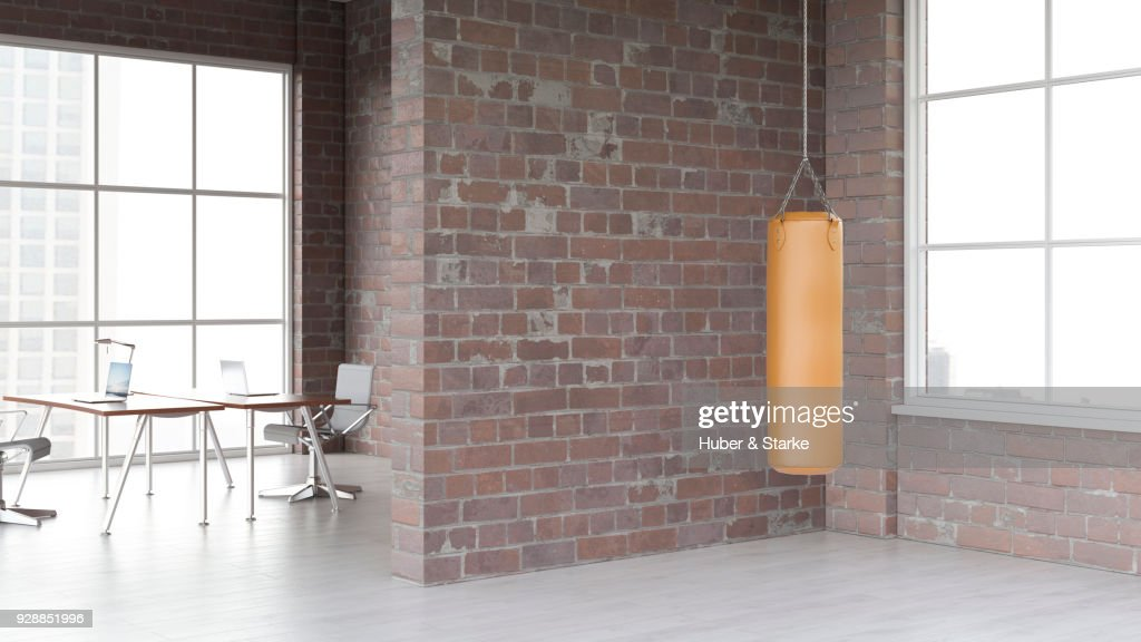 Gentil Office With Punching Bag : Stock Photo