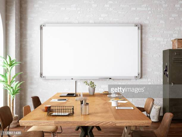 office with white board - no people stock pictures, royalty-free photos & images