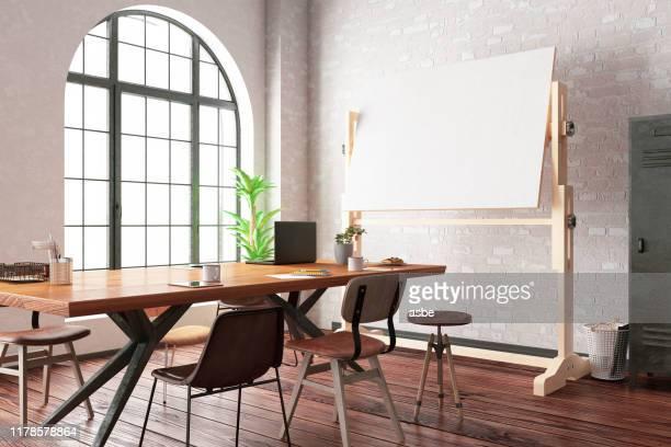 office with white board - modelo ocupação imagens e fotografias de stock