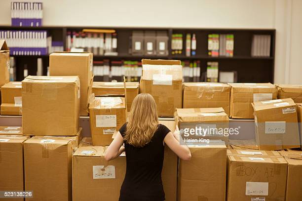 Office Worker in Shipping Department