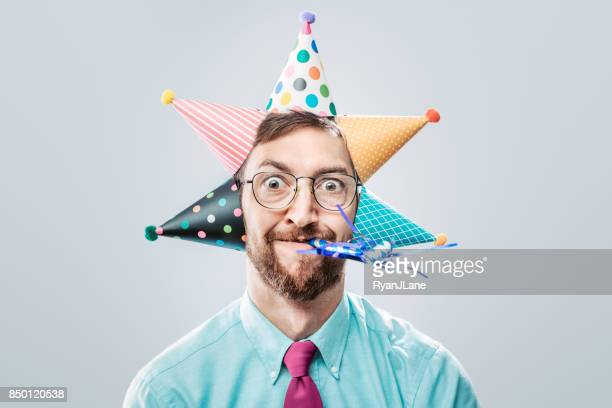 office worker party man - bizarre stock pictures, royalty-free photos & images