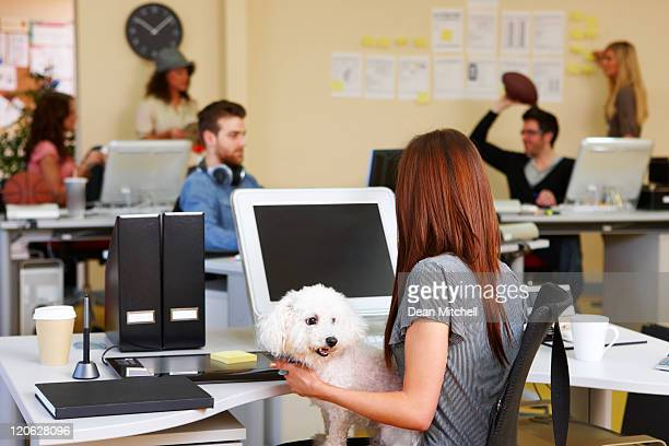 Office Worker with a Dog