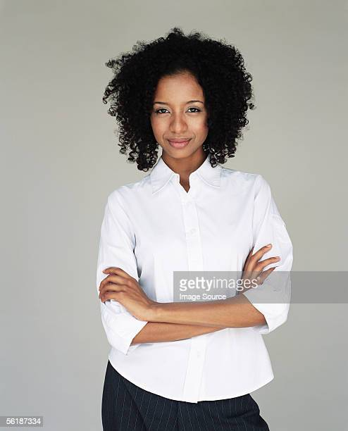 office worker with arms crossed - shirt stock pictures, royalty-free photos & images