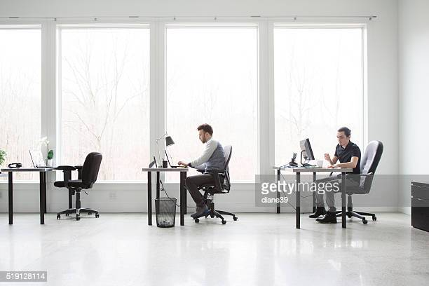 Office Workers in a Modern Office