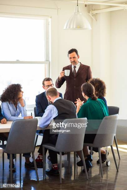 Office Workers in Discussion
