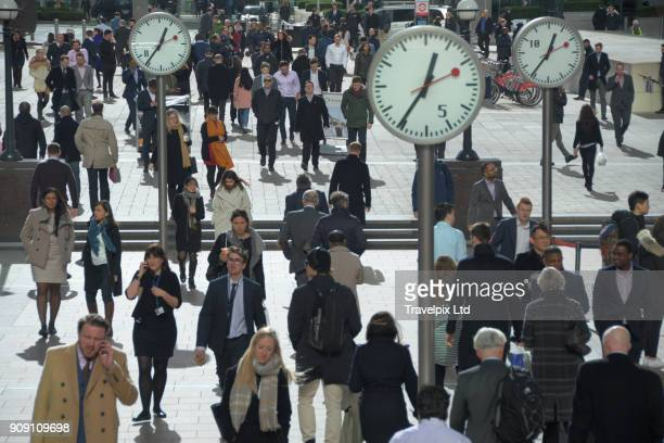 Office workers, lunch hour, London Financial district
