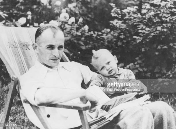 SS officer Adolf Eichmann with his son Horst in Prague circa 1942