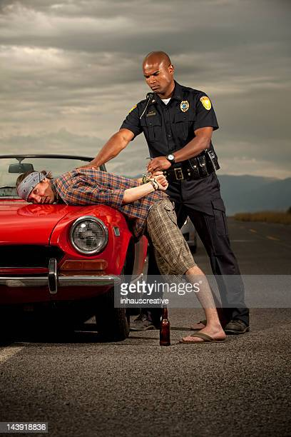 Officer Arrests a Caucasian Male
