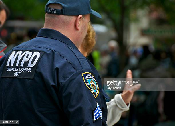 """NYPD """"DISORDER CONTROL UNIT"""" Officer at Zuccotti Park, NYC"""