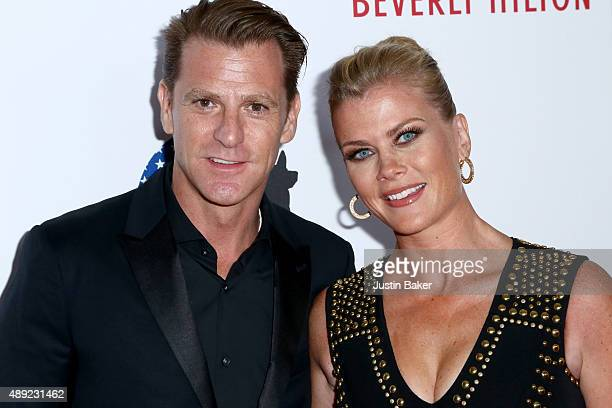 CHP Officer David Sanov and Actress Alison Sweeney attend the 5th Annual American Humane Association Hero Dog Awards at The Beverly Hilton Hotel on...