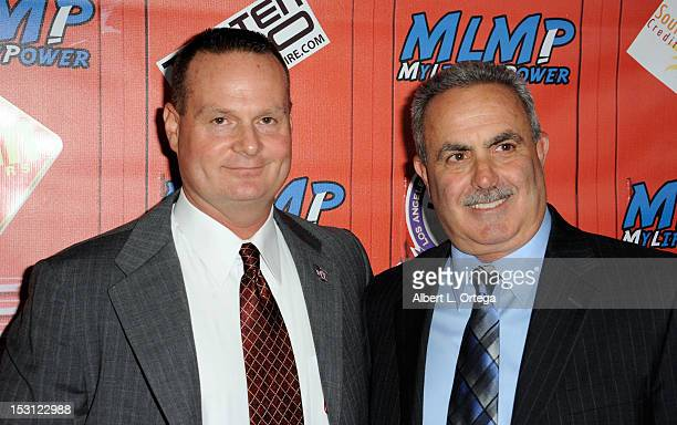 Officer James Ream and Chief of school police Steve Zipperman arrives for My Life My Power Roof Top Party to benefit after school programs held at...