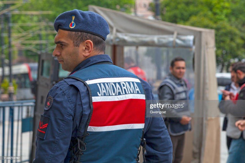 Officer of the Jandarma : Stock Photo