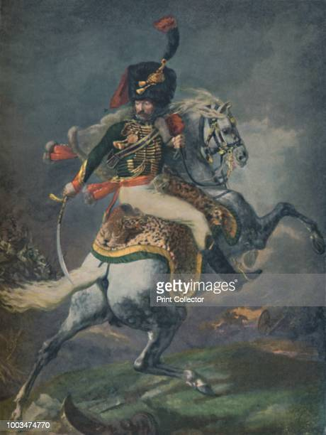 Officer of the Mounted Chasseurs Charging ' circa 1812 Typogravure after the painting titled 'The Charging Chasseur or An Officer of the Imperial...