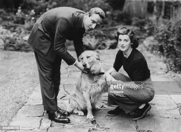 RAF officer Percy Belgrave Lucas aka Laddie Lucas with Jill Addison sisterinlaw of Douglas Bader circa 1945