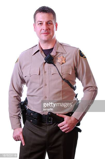 officer ready for action - sheriff stock pictures, royalty-free photos & images
