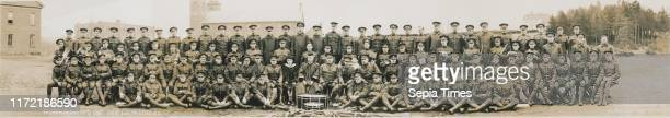 Officers and men of No 9 Stationary Hospital CEF St Francis Xavier's Unit LieutCol McLeod OC 1916