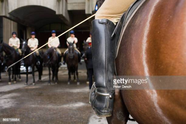 Officers and men prepare for inspection at the Knightsbridge barracks The Household Cavalry is made up of squadrons from the Life Guards and the...