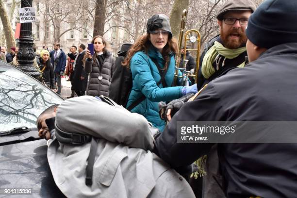 Officers arrested New York City Councilmember Jumaane Williams after a peaceful protest became violent due to the detention of the Activist Ravi...