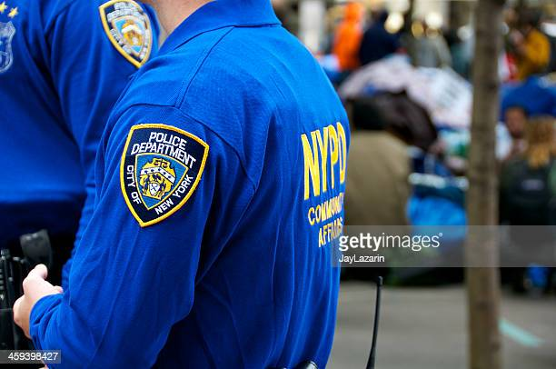 """NYPD """"COMMUNITY AFFAIRS"""" Officers at Zuccotti Park, NYC"""