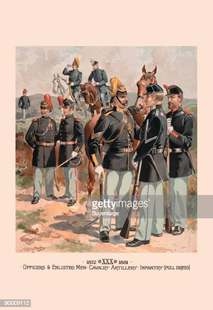 Officers & Enlisted Men, Cavalry, Artillery, Infantry