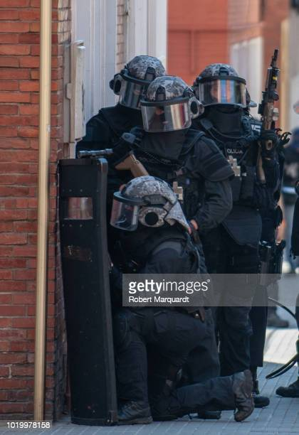A general view of the Mossos d'Esquadra building on August 20 2018 in Cornella Spain Earlier in the day a man entered a Mossos d'Esqaudra police...