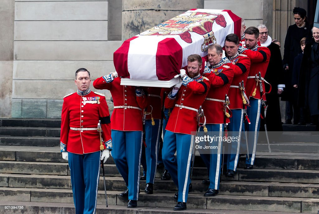 Funeral of Denmark's Prince Henrik at Parliament Palace Church Copenhagen