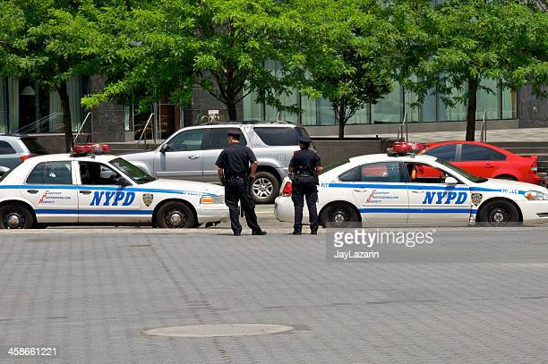 NYPD Officers near Battery Park, Lower Manhattan, NYC