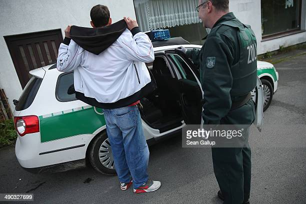 Officers of German Customs who asked not to be identified apprehend a young man who tested positive for methamphetamine usage on May 13 2014 in...