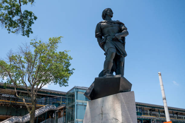 NY: Christopher Columbus Statue Guarded In Queens, NYC As Historical Monuments Targeted Around U.S.