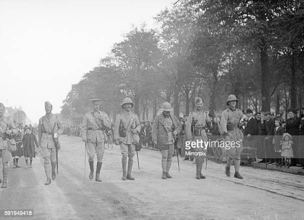 Officers of the 3rd Lahore Indian division seen here leading a parade in Orleans France October 1914