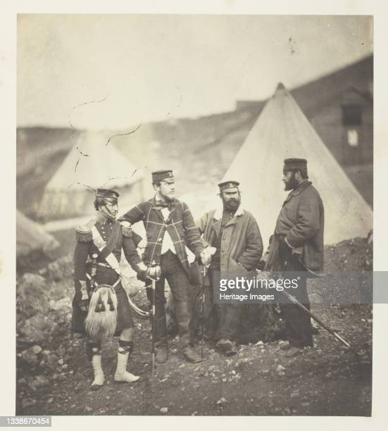 Officers of the 42nd Highlanders, 1855. A work made of salted paper print, plate 17 from the album 'photographs taken in the crimea' . Artist Roger...
