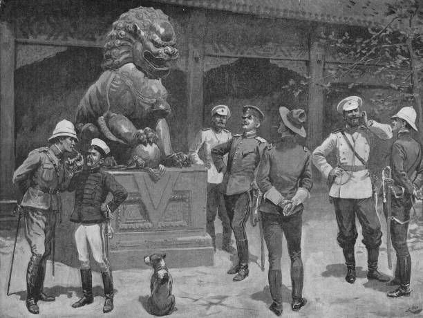 Officers of the Eight-Nation Alliance at the gates...