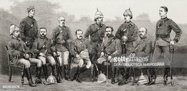Officers of the Guides' Corps Second AngloAfghan war illustration from the magazine The Graphic volume XIX no 496 May 31 1879
