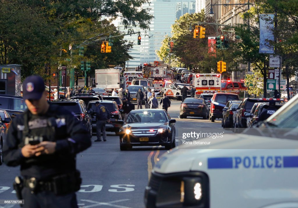 Multiple People Injured After Truck Plows Through New York City Bike Path : News Photo