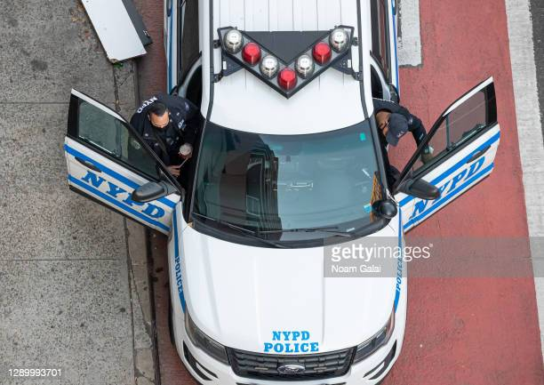 Officers wear face masks in Kips Bay on December 07, 2020 in New York City. The pandemic has caused long-term repercussions throughout the tourism...