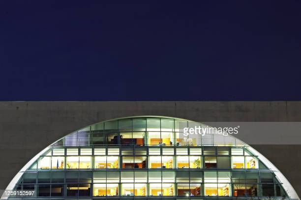 offices in the german chancellery (berlin) - german chancellery stock pictures, royalty-free photos & images