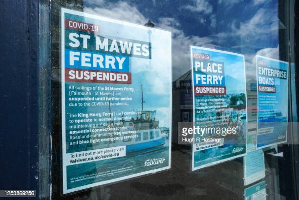 Offices of Fal River Ferries on the day crew members prepare their vessels for carrying passengers on ferry crossings between Falmouth and St Mawes...