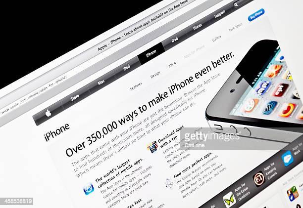 Offizielle Apple iPhone-Webseite