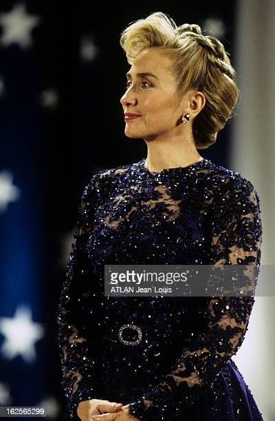 Official Bal Of Bill Clinton Inauguration In Washington 20 janvier 1993 A l'occasion du bal officiel de l'investiture de Bill CLINTON reportage sur...
