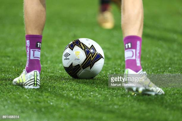 Official Ball during the french League Cup match Round of 16 between Toulouse and Bordeaux on December 12 2017 in Toulouse France