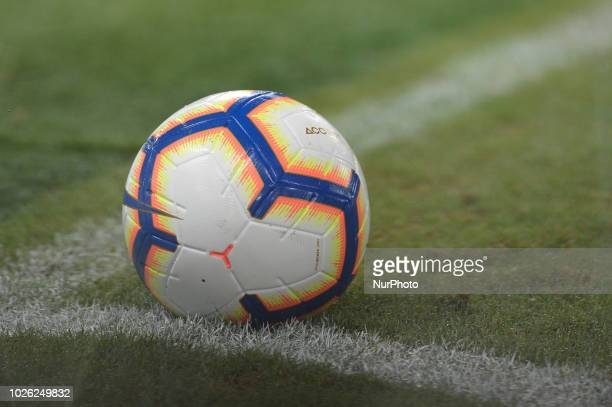 Official ball during the Italian Serie A football match between SS Lazio and Frosinone at the Olympic Stadium in Rome on september 02 2018