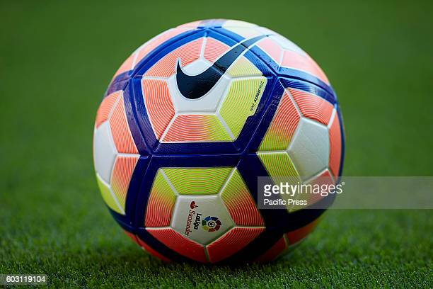 Official ball during the La Liga game between Valencia CF and Real Betis at Mestalla stadium Game ends Valencia CF 23 Real Betis